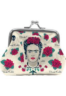 Porta Moedas Branco Em Pu Frida Kahlo Urban