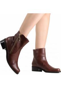 f202e2a76 Ankle Boot Com Salto Luz Da Lua feminina   Shoelover