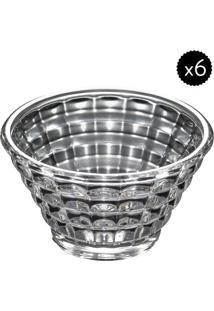 Jogo De Saladeiras Diamond- Cristal- 6Pçswolff