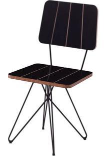 Cadeira Costinha Preta Com Base Estrela Preta - 49556 - Sun House