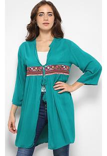 Blusa Acrobat Kimono Bordada Feminina - Feminino