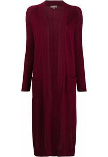 N.Peal Long-Length Cashmere Cardi-Coat - Vermelho