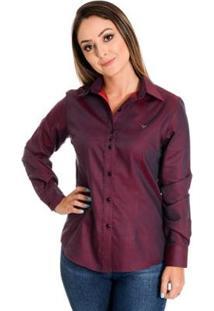 Camisa Pimenta Rosada Emillie - Feminino-Vinho