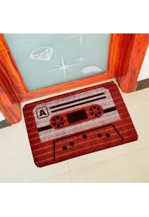 Capacho Carpet Fita Antiga Vermelho