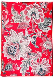 Tapete Andino Floral I Retangular Polipropileno (100X150) Vermelho