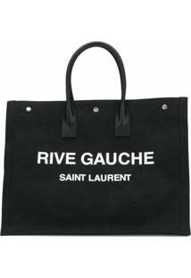 Saint Laurent Bolsa Tote Rive Gauche - Preto