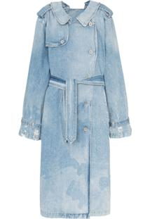 Unravel Project Trench Coat Jeans Dupla Face - Azul