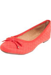 Sapatilha Dafiti Shoes Matelassê Vermelho