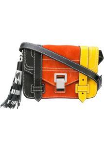 Proenza Schouler Bolsa Ps1+ Mini Color Block - Preto
