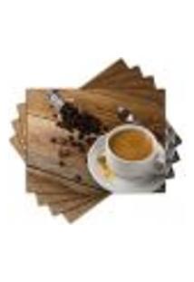 Jogo Americano - Café Com 4 Peças - 906Jo
