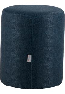 Puff Round Tecido Jacquard Assis 8156 Azul Stay Puff