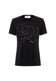 Camiseta Feminina Vit - Preto