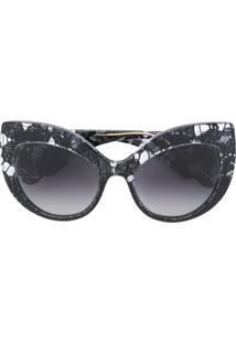 R  2098,00. Farfetch Dolce   Gabbana Eyewear Óculos De Sol Gatinho  Oversized - Preto 4e1a80eef0