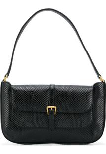 By Far Miranda Lizard-Skin Effect Shoulder Bag - Preto
