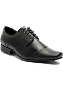 Sapato Social Couro Salazari Masculino - Masculino-Preto