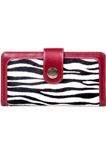 Carteira Artlux Zebra Vermelha