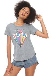 Camiseta Coca-Cola Jeans De Boas Grafite