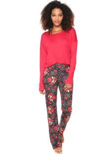 f3f72bd3a Pijama Conforto Vermelho feminino