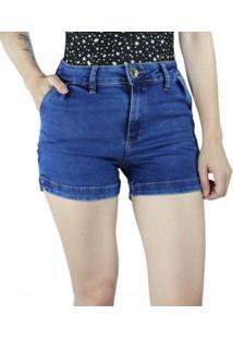 Short Jeans Feminino Instinto Cintura Alta