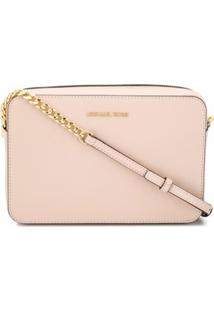 Michael Kors Collection Bolsa Transversal Jet Set - Rosa