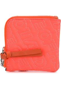 House Of Holland Carteira Com Bordado De Logo - Laranja