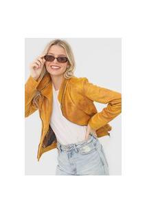 Jaqueta Desigual Textura Amarela