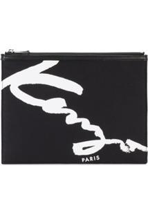 Kenzo Bolsa De Mão Com Logo - Preto