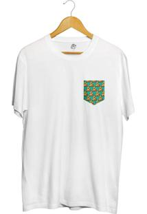 Camiseta Bsc Pizza Poa Pocket Full Print - Masculino-Branco