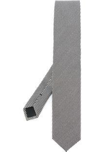 Tom Ford Gravata De Seda Com Textura - Grey