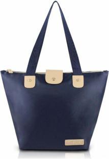 Bolsa Dobrável Tam. G Lisa Jacki Design Essencial I Azul Escuro - Kanui