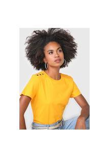 Camiseta Forum Botões Amarelo