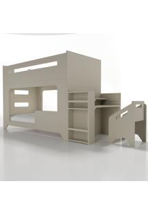 Conjunto Lumi - Beliche+Escrivaninha Cinza Timber - Tricae