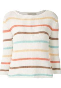 Fillity Blusa De Tricô Listrada Canelada - Estampado