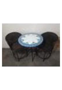 Conjunto De Mesa E Cadeira Sacada Mandala Branca
