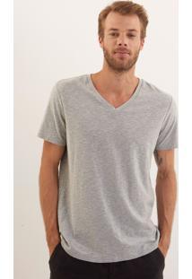 Camiseta John John Rg V Basic Mescla Malha Cinza Masculina Tshirt Rg V Basic Mescla-Cinza Mescla Claro-G