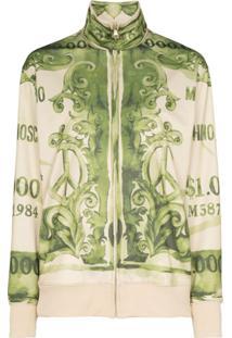 Moschino Bank Note Print Sweatshirt - Verde