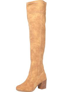 Bota Polo London Club Over Knee Basic Caramelo