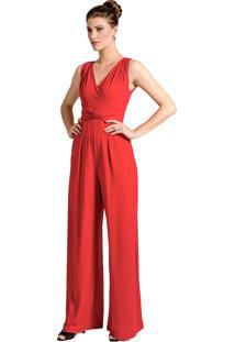 Macacã£O Alphorria Pantalona Vermelho - Vermelho - Feminino - Poliã©Ster - Dafiti