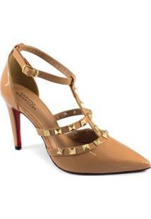Scarpin Spikes Numeração Especial Sapato Show - Feminino-Nude