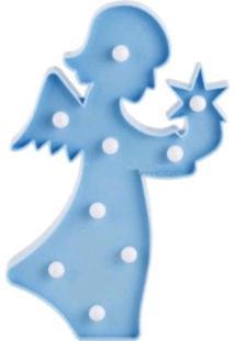 Luminaria Led Abajur Luz Decoracão Modelo Anjo Azul