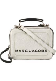 Marc Jacobs Bolsa Transversal Com Logo - Dourado