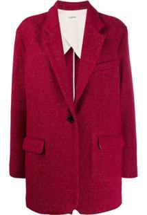 Isabel Marant Étoile Blazer Slim Com Abotoamento Simples - Vermelho