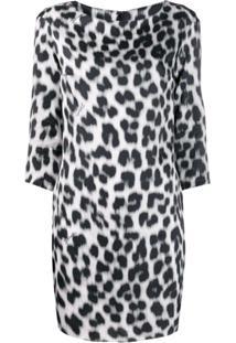 Just Cavalli Vestido Animal Print - Branco