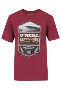 Camiseta O'Neill Estampada Scotch Label - Masculina - Vinho
