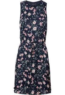 Vestido Dudalina Regata Com Elástico Na Cintura Feminino (Estampado Floral, 36)