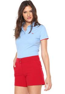 Camisa Calvin Klein Jeans Reta Logo Azul