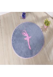 Tapete Formato Feltro Antiderrapante Bailarina Cinza Prata - Multicolorido - Dafiti
