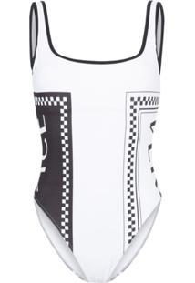 Versace Maiô Com Logo - Branco