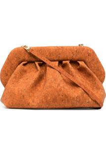 Themoirè Clutch Bios Grande - Laranja