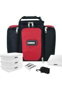 Bolsa Térmica Fitness Dagg 6L - Unissex-Preto+Vermelho